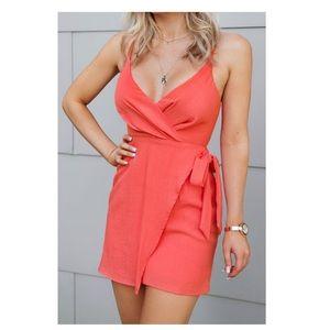 NWT Cotton Candy LA Coral Mini Dress
